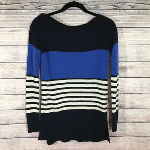 Kate Spade Long Sleeve Blue Striped Sweater XS